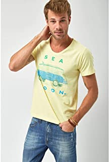 Camiseta Sea Soon - Amarelo Claro