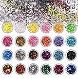 Belle Glitter Chunky Sparkle Glitter per Corpo Viso Occhi Unghie Capelli per musica Festiv...