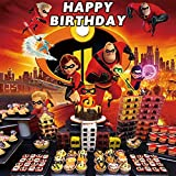The Incredibles Backdrop | Birthday | Party Supplies | Superhero | Photography | for Kids