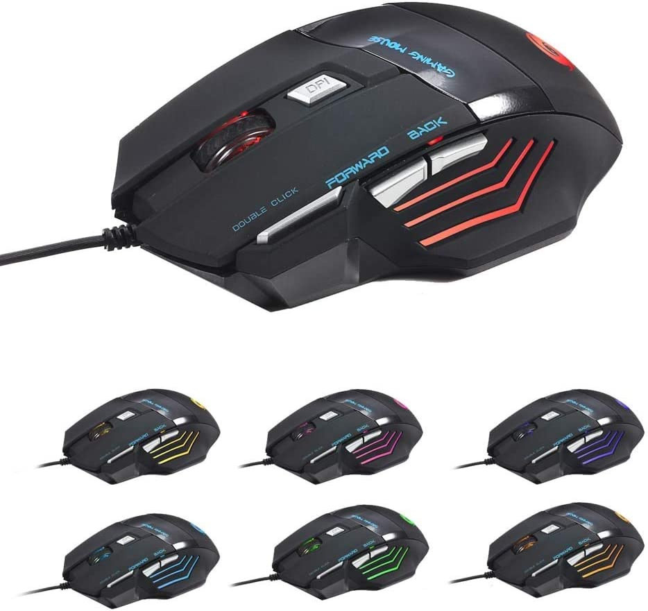 Raxinbang Keyboard Colorful OFFicial shop Light Gaming New arrival ABS Mouse Black Suitabl