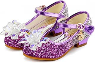 Children Infant Kids Bowknot Pearl Lace Crytal Sequin Low-Heel Princess Dress Shoe Kstare Dancing Shoes for Girls
