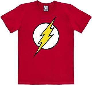 Logoshirt Camiseta Flash - Logotipo - Camiseta DC Comics - Flash - Logo - Camiseta con Cuello Redondo Rojo - Diseño Origin...