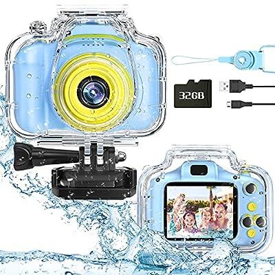 Miiulodi Kids Waterproof Camera for Kids Birthd...