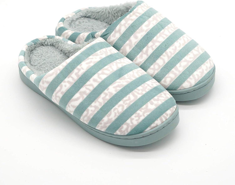 Baviue Women's Cotton Memory Foam Slippers House Indoor shoes
