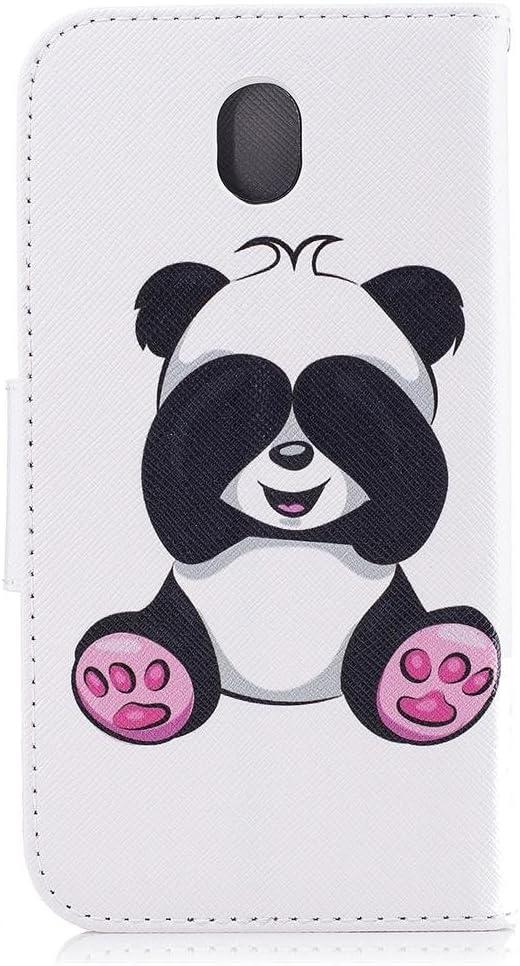 KATUMO Funda para Galaxy J7 2017 de 5,5 pulgadas con dise/ño de panda blanca