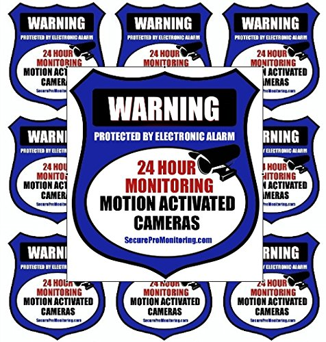 10'Real Blue Burglar Alarm Video Surveillance Security Decals Door & Window Stickers