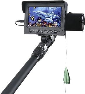 GRXXX Cámara De Pesca De Pesca De 1200TVL De 1200TVL De 4.3 Pulgadas Detector 6Pcs 6W, Cámara De Pesca De Visión Nocturna ...