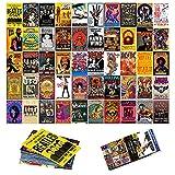 50PCS Vintage Rock Wall Collage Kit, Aesthetic Room Decor, Retro Music Concert Album Photo Wall Aesthetic Pictures, Vintage Room Decor, Collage Kit