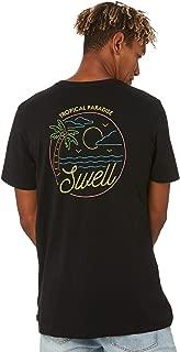 Swell Men's Plasma Tee Short Sleeve Cotton Black