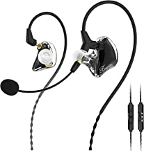 BASN Gaming Earbuds with Dual Microphone, Noise Isolating in-Ear E-Sport Wired Earbud with Detachable Mic Compatible with ...