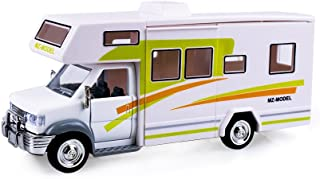 HSOMiD Toys Holiday Camper Van, Cool Mini Motorhome Toy / Pullback Vehicle Playset for Kids (Camper Van / Green)
