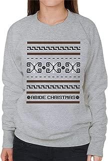 The Big Lebowski The Dude Abides Christmas Women's Sweatshirt