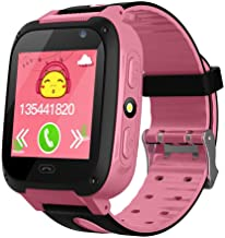 XuBa Anti-Lost Kids Safe GPS Tracker SOS Call GSM Smart Watch Phone for Android iOS Pink
