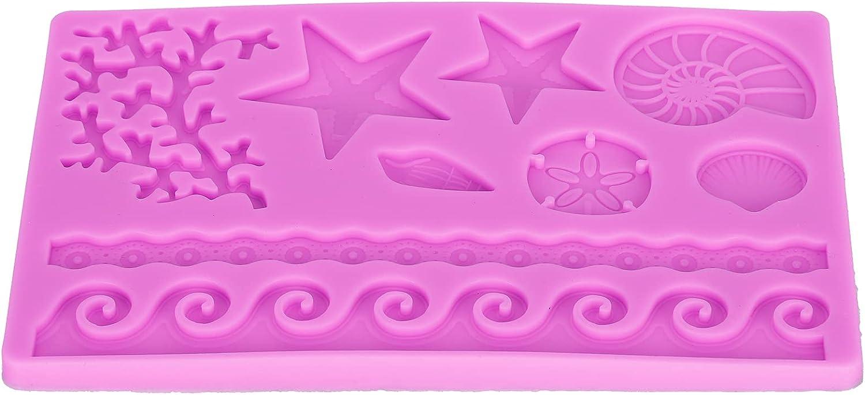 Zerodis Marine Theme Pattern Silicone Cake DIY Mold Fondant ...