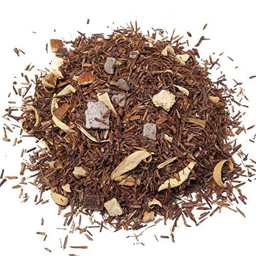 Aromas de Té - Infusión Rooibos Delicias de Chocolate/Té Rooibos Anti-Oxidante Granel de Alta Calidad, Rooibos Chocolate 100% Natural, 100 gr