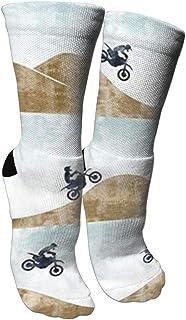 Motocross Dirt Bike Graduated Compression Socks for Unisex - Best Medical, Nursing,Running & Fitness Crew Socks