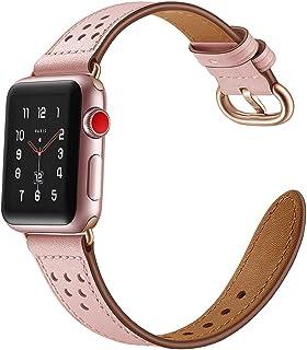 Dee Plus Correa Compatible para Apple Watch 38mm/42mm Piel Genuina Reemplazo Correa,Clásico para Apple Watch Series 4/3/2/...