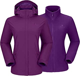 CAMELSPORTS Womens Winter Jacket Waterproof Warm Fleece 3 in 1 Ski Jacket Mountain Rain Coat