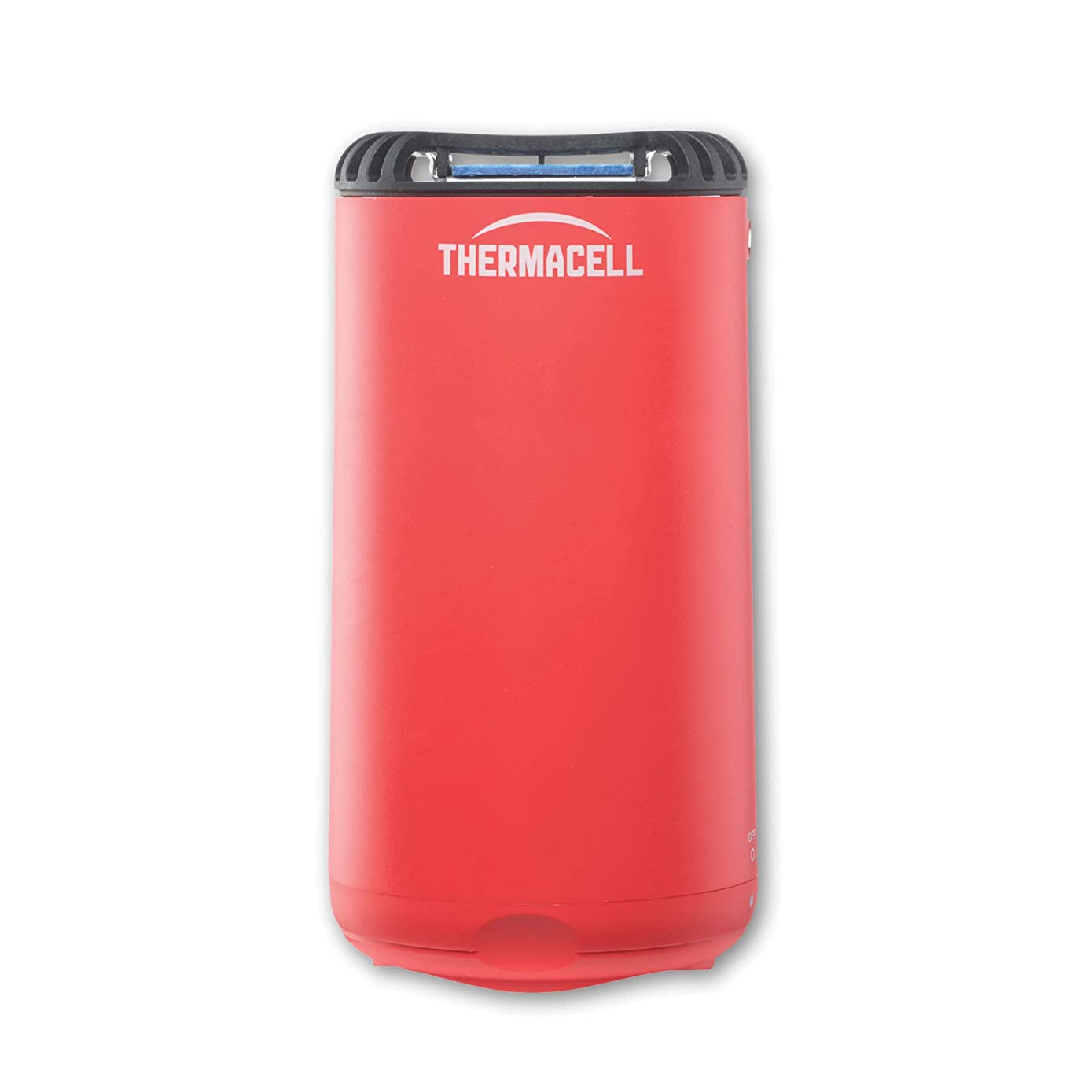 Thermacell Patio Shield Mosquito Repeller, Fiesta Red; Easy to Use, Highly Effective; Provides 12 Hours of DEET-Free Mosquito Repellent; Scent-Free, No Spray, No Smoke and Cordless