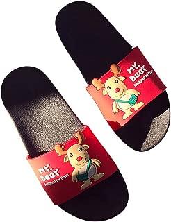 Hopscotch Girls PVC Dear Applique Flip Flops in Red Color
