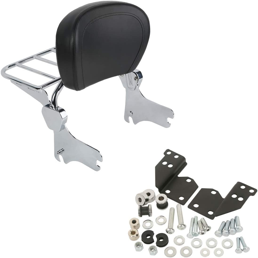 TCMT Chrome SissyBar Topics on TV Luggage Rack Docking For Kit Baltimore Mall Fit Harley S