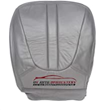 us auto upholstery Compatible with 2001 Ford Expedition Eddie Bauer XLT -Driver Side Bottom Leather Seat Cover Gray