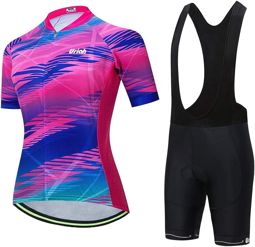 Uriah Women's Store Bicycle Jersey New products world's highest quality popular Bib Shorts Black Set Reflective Sho