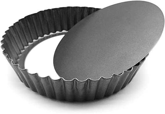 HOMOW Nonstick Heavy Duty Tart Pan With Removable Bottom