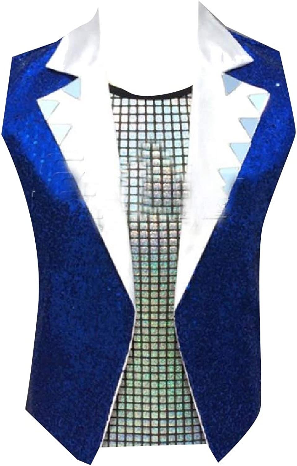 TaoNice Men's Sequin Lapel Stage Clothes Clothes Clothes