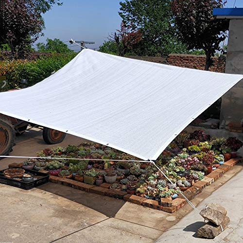 shade net Red De Sombra para Jardín, Red De Protección Solar Blanca, 2 * 2m, 3 * 5m Toldo De Invernadero Anti-UV para Patio, Ligero Y Duradero
