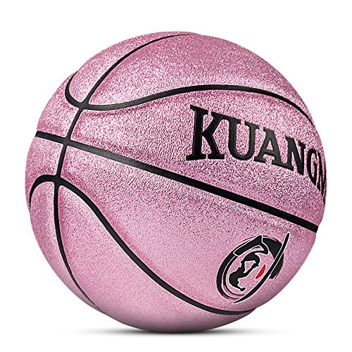 For Sale! Kuangmi Multi-Color Basketball for Junior Kids Child Boys Girls Size 5 27.5 (Rose Pink)