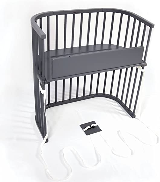 Babybay Bedside Sleeper Modern Slate Gray Finish