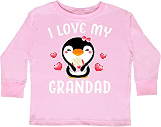 inktastic I Love My Grandad with Cute Penguin and Toddler Long Sleeve T-Shirt