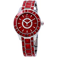 Dior Christal Automatic Diamond Red Sapphire Women's Watch