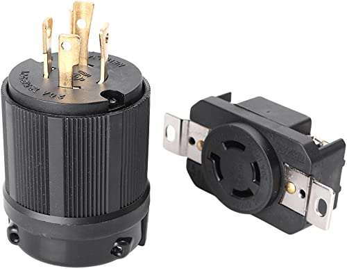 lowest Mallofusa 20 Amp, 125-250 Volt, NEMA L14-20P L14-20R, Industrial Power Plug, Plug Connector for online Generator Cord outlet sale Assembly, US online
