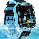 Kids Smart Watch, Waterproof Kids Smart Watches with G Tracker, Multifunctional Kids Watches Phone, Gift for Children Aged 3-14(Blue)