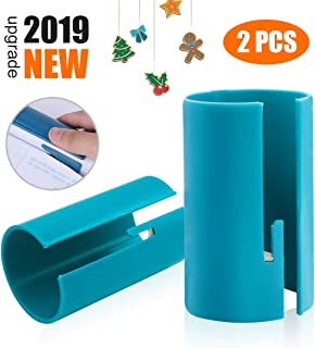 【2019 New】Wrapping Paper Cutter, Festival Wrapping Paper Cutter Kraft Craft Paper Roll Sliding Line Cut Trimmer for Christmas Birthday, Easy Quick, Creative Sliding Paper Roll Cutter, 2 Pack …