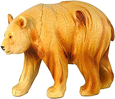 """StealStreet MME-934 Ss-Ug-Mme-934, 6"""" Walking Panda Carving Faux Wood Decorative Figurine, Brown"""