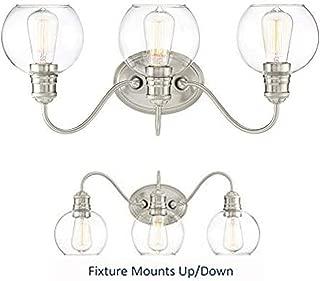 Quoizel Soho 3-Light 22-in Brushed Nickel Globe Vanity Light