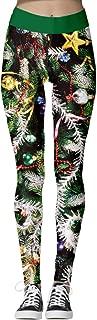 Women's Santa Claus Holiday Stretchy Active Christmas Printed Leggings