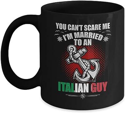 イタリアギフトメンズの結婚–私は、イタリアのGuyコーヒーマグ–誕生日ギャグギフト夫のためのボーイフレンドバレンタインデーのギフト–ギフトTea Cupブラックセラミック11オンス
