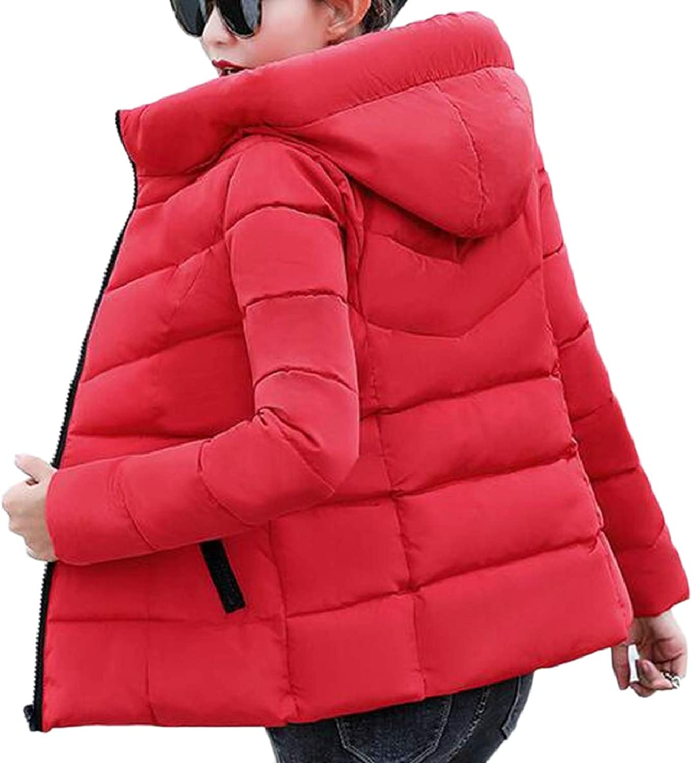 TymhgtCA Women Loose Fit Packable Down Quilted Jacket Lightweight Puffer Coat