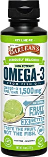 Barlean's Seriously Delicious Omega-3 High Potency Fish Oil, Key Lime Pie, 8-oz