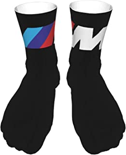AsakawaKoutarou, B-M-W Car M Sports Series Verano Moda Unisex Estampado Algodón Transpirable Deporte Casual Socks Calcetines Long Calcetines Thick Calcetines