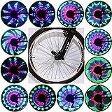 TOPNIU Luci a Ruota per Bici | Luci a Ruota per Bicicletta | Luci per Pneumatici di Sicurezza a Raggi IP55 per Raggi per Biciclette per Adulti | Luci di Sicurezza per Ciclismo su Strada, 1 Pacchetto