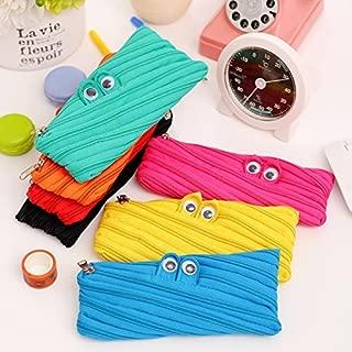 Schoolsupplies 2pcs Cute Cartoon Canvas Big Eyes Monster Pencil Case Pouch Zipper Bag
