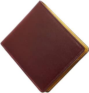 [BlissLeather] [日本製の栃木レザー ヴォーノ]高級 二つ折り財布 バイカラー MADE IN JAPAN