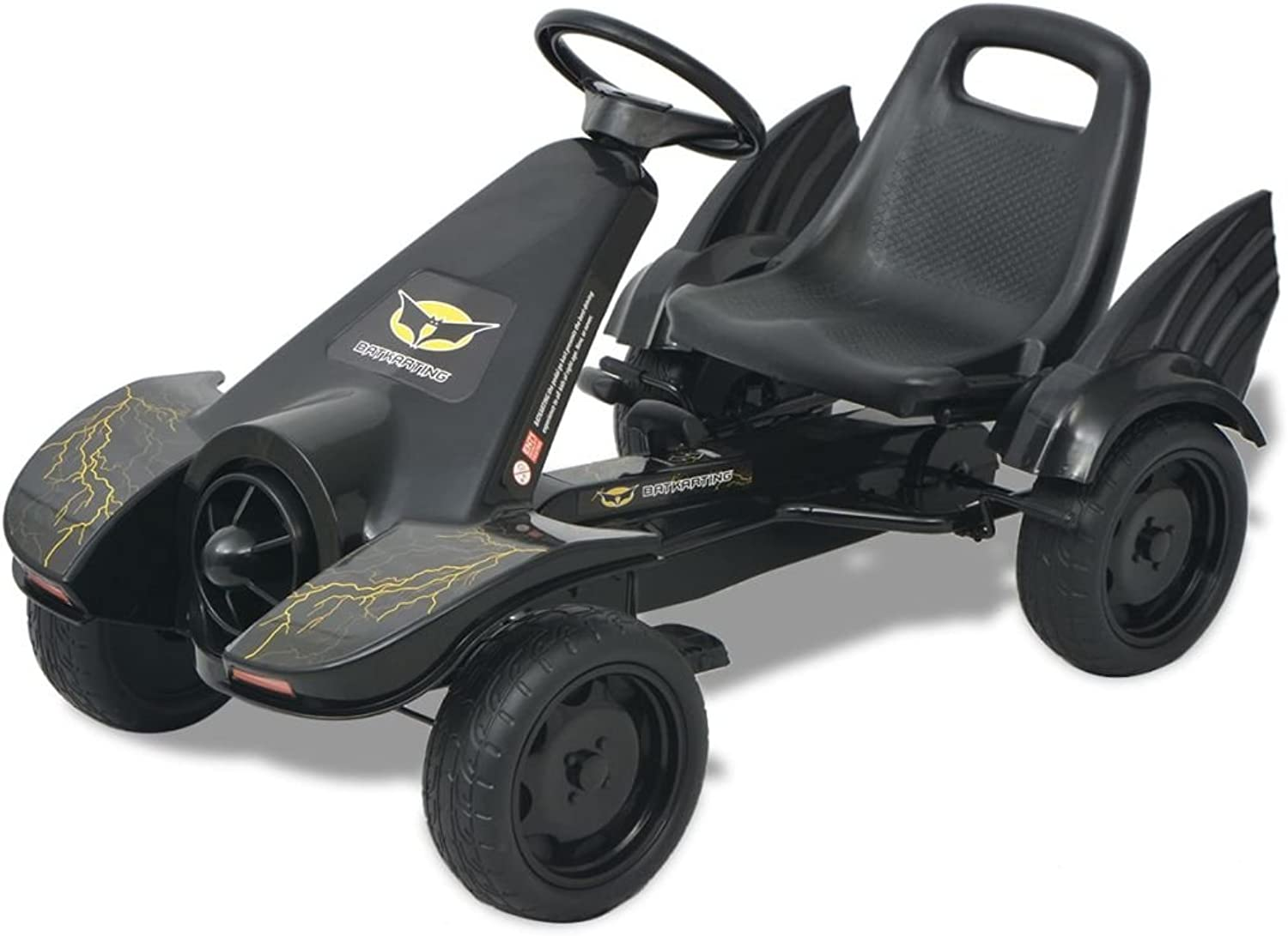 SENLUOWX Pedal Go Kart with Adjustable Seat Black