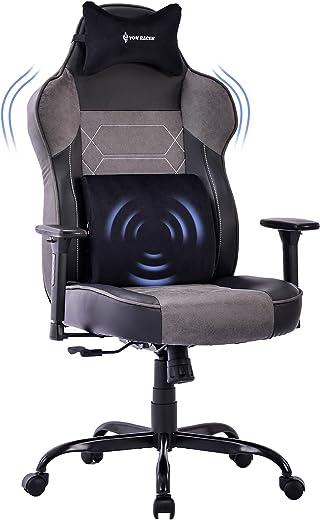 VON RACER Gaming Stuhl mit Großer Memory Foam – Verstellbares Massage Lendenkissen Ergonomischer Büro-Schreibtischstuhl Höhenverstellbarer…