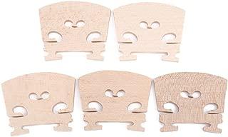 Dilwe 5Pcs Madera de Arce Puentes de Violín Instrumento Partes Adecuado Accesorios para 4/4 Tamaño Violín